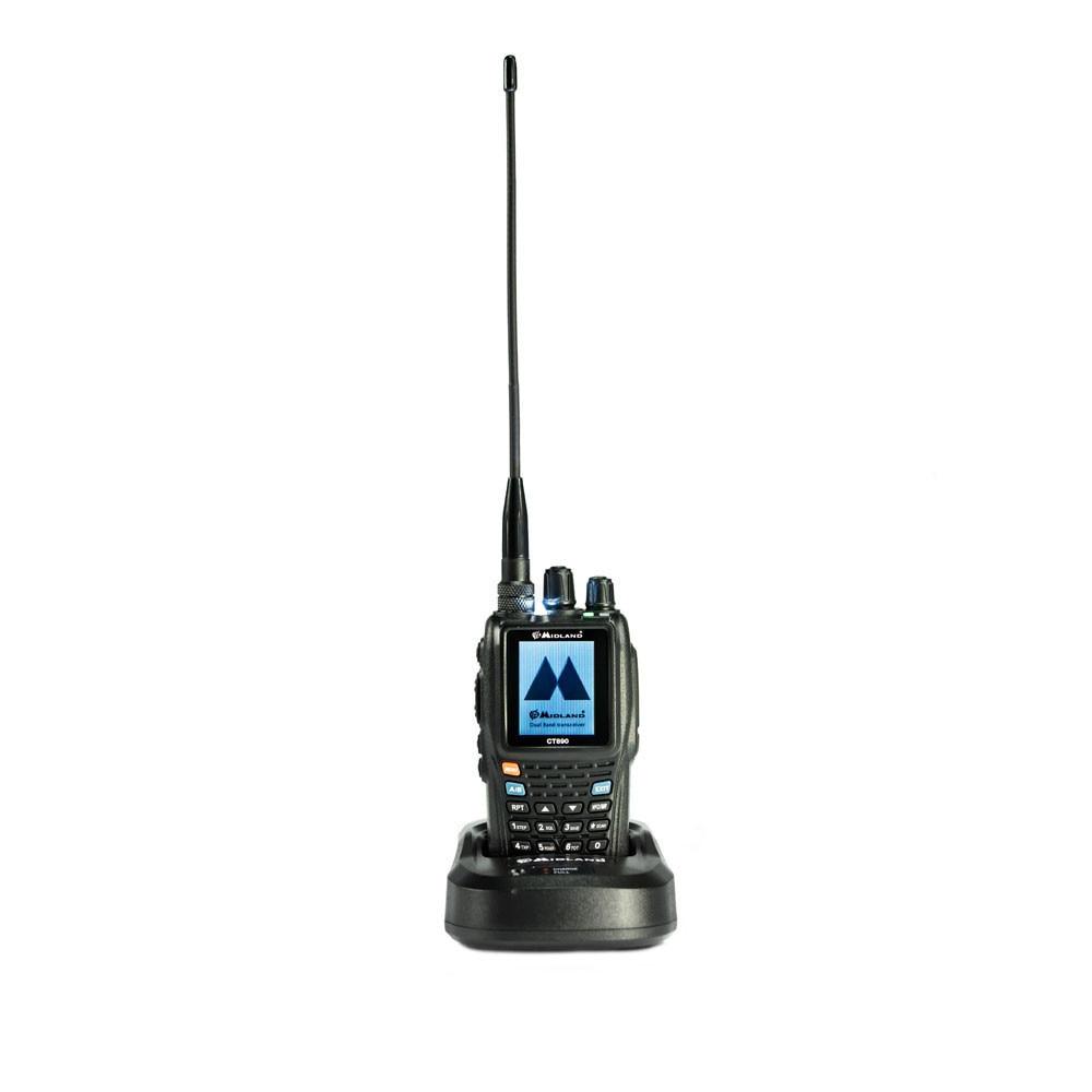 Fotografie Statie radio VHF/UHF portabila Midland CT890, dual band, 136MHz-174MHz / 400MHz-470 MHz