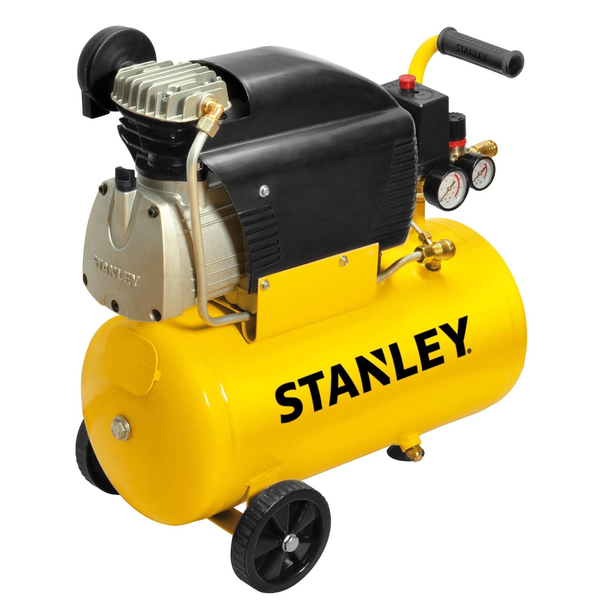 Fotografie Compresor aer profesional Stanley D211, 2 CP, 24 l capacitate rezervor, 8 bar presiune lucru, 222 l/min debit aer