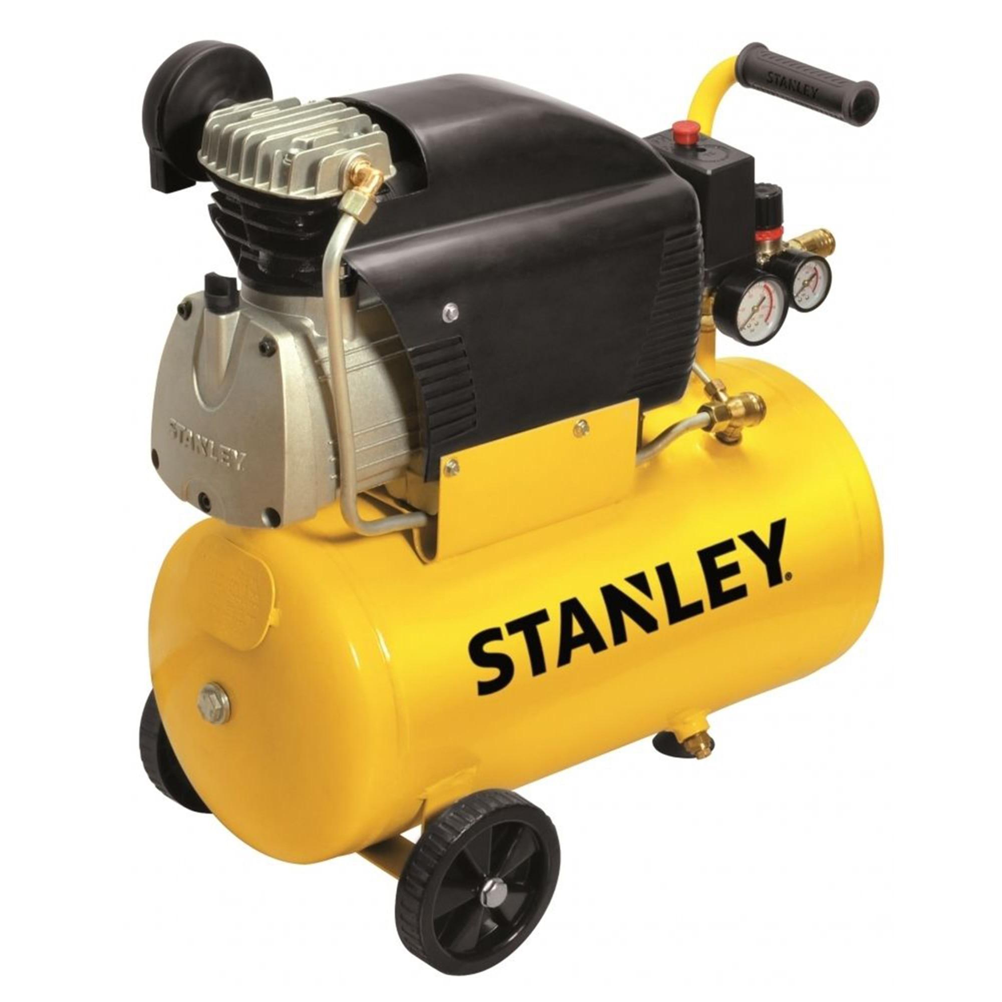 Fotografie Compresor aer profesional Stanley D210, 2 CP, 24 l capacitate rezervor, 8 bar presiune lucru, 222 l/min debit aer