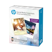 Фото хартия HP Social Media Snapshots, Лепило, Сменяема, 10 х 13 см, 25 листа