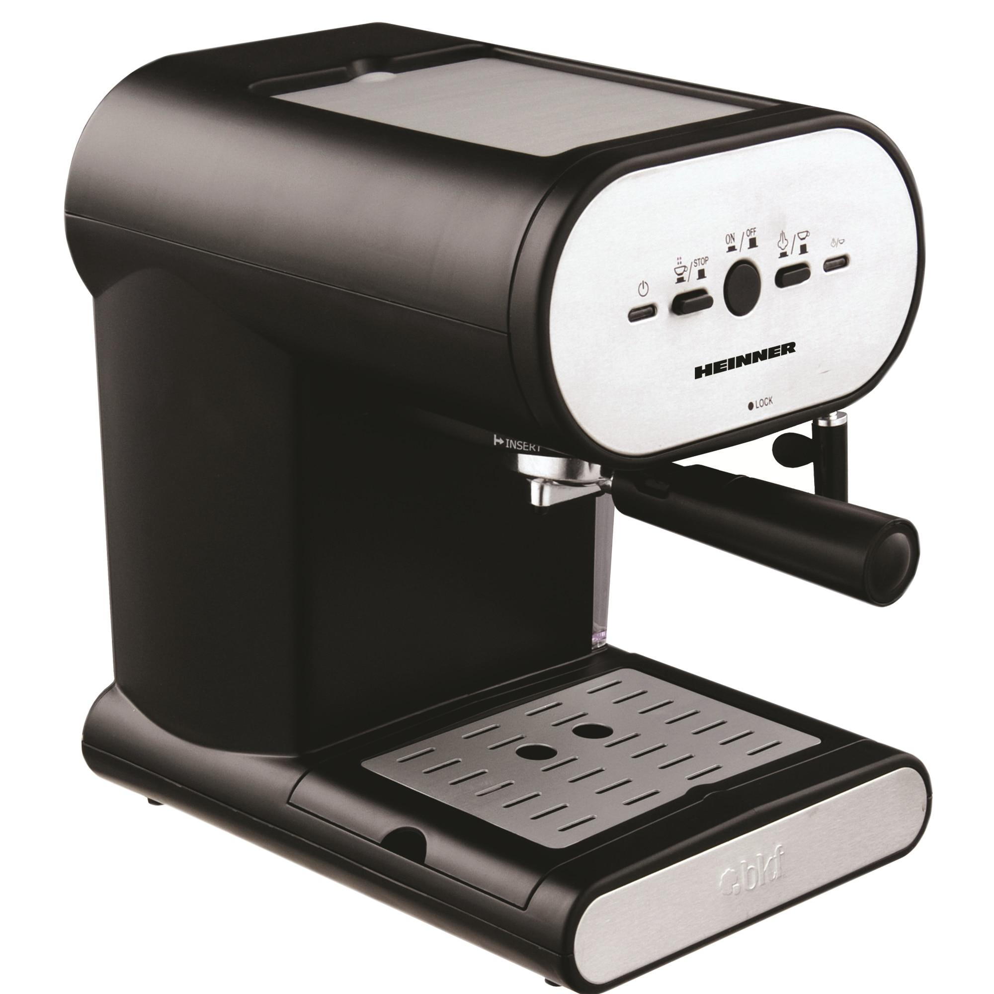 Fotografie Espressor manual Heinner Soft Cream HEM-250, 1050W, 15 bar, 1l, Negru