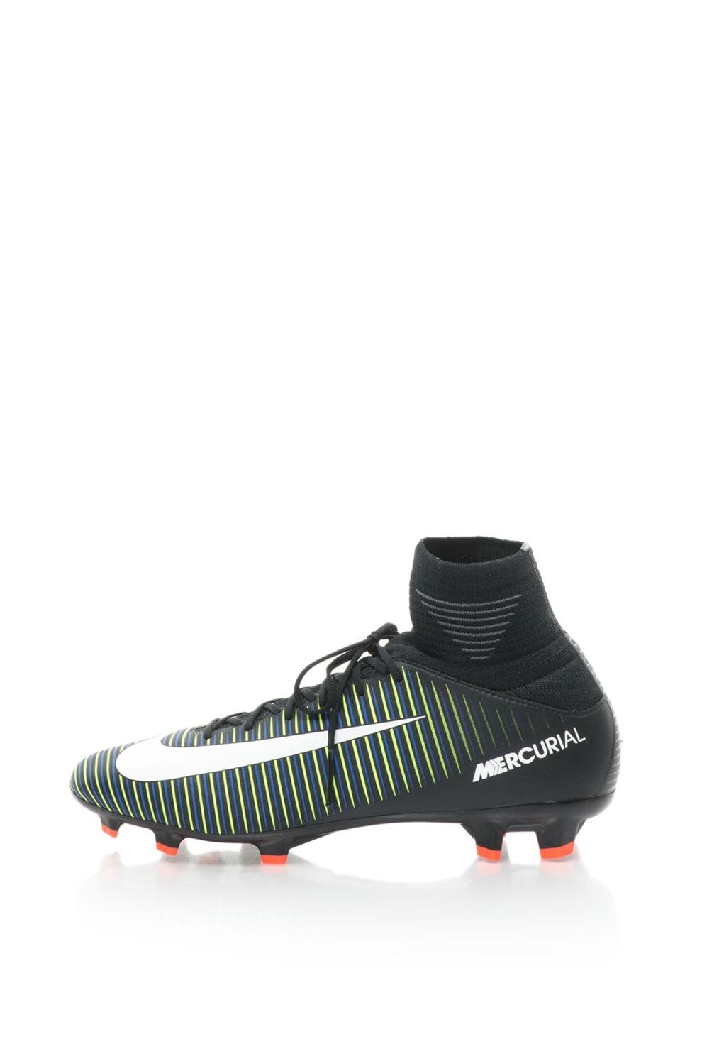 Haz lo mejor que pueda chorro dialecto  Nike, Pantofi cu crampoane pentru fotbal Mercurial Superfly, Negru/Verde,  6Y - eMAG.ro