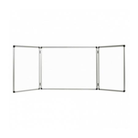 Бяла дъска Bi-Office тройна, 120х480 см, сгъната 120х240 см