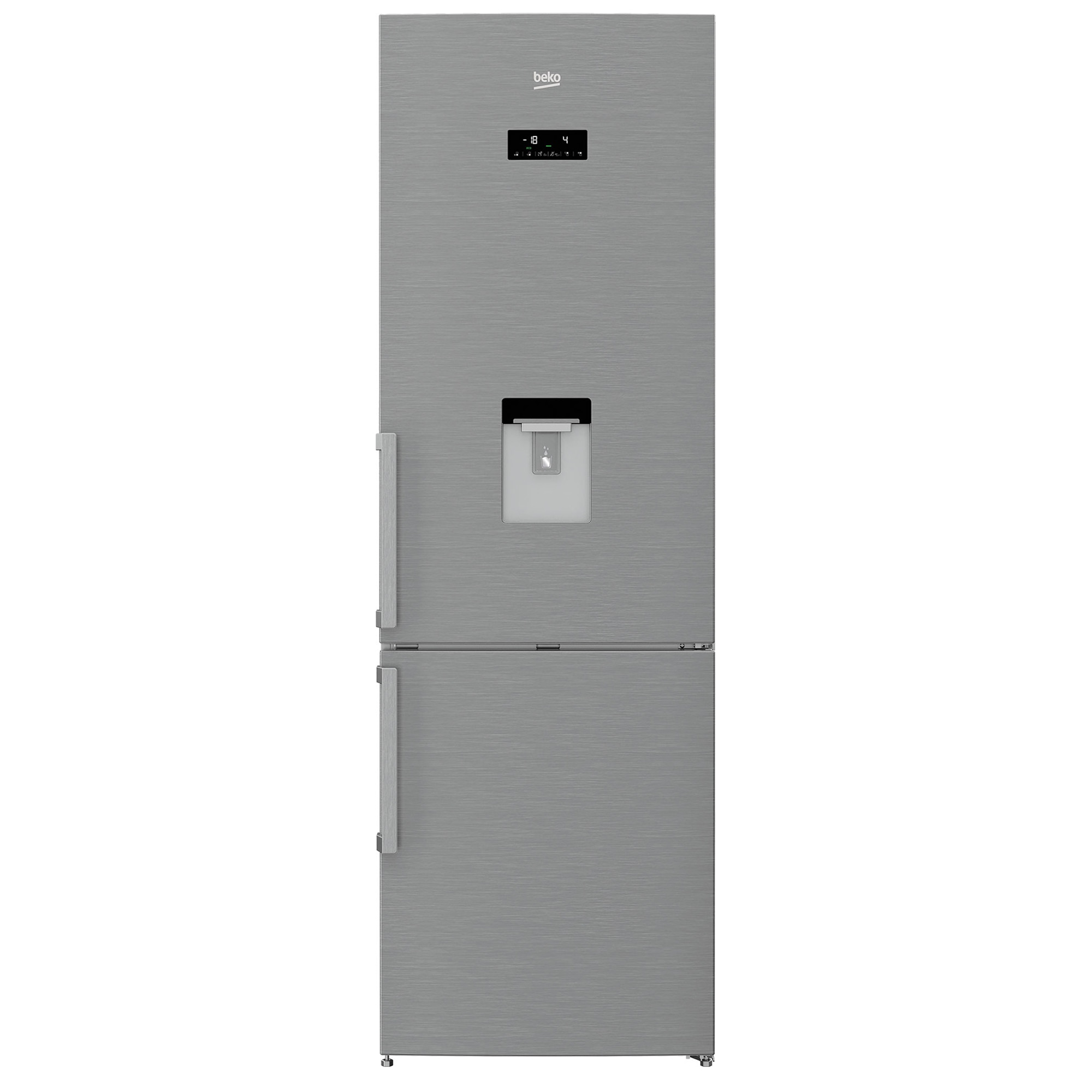 Fotografie Combina frigorifica Beko RCNA400E21DZXP, 351 l, Clasa A+, NeoFrost, Dozator apa, H 201 cm, Inox Antiamprenta