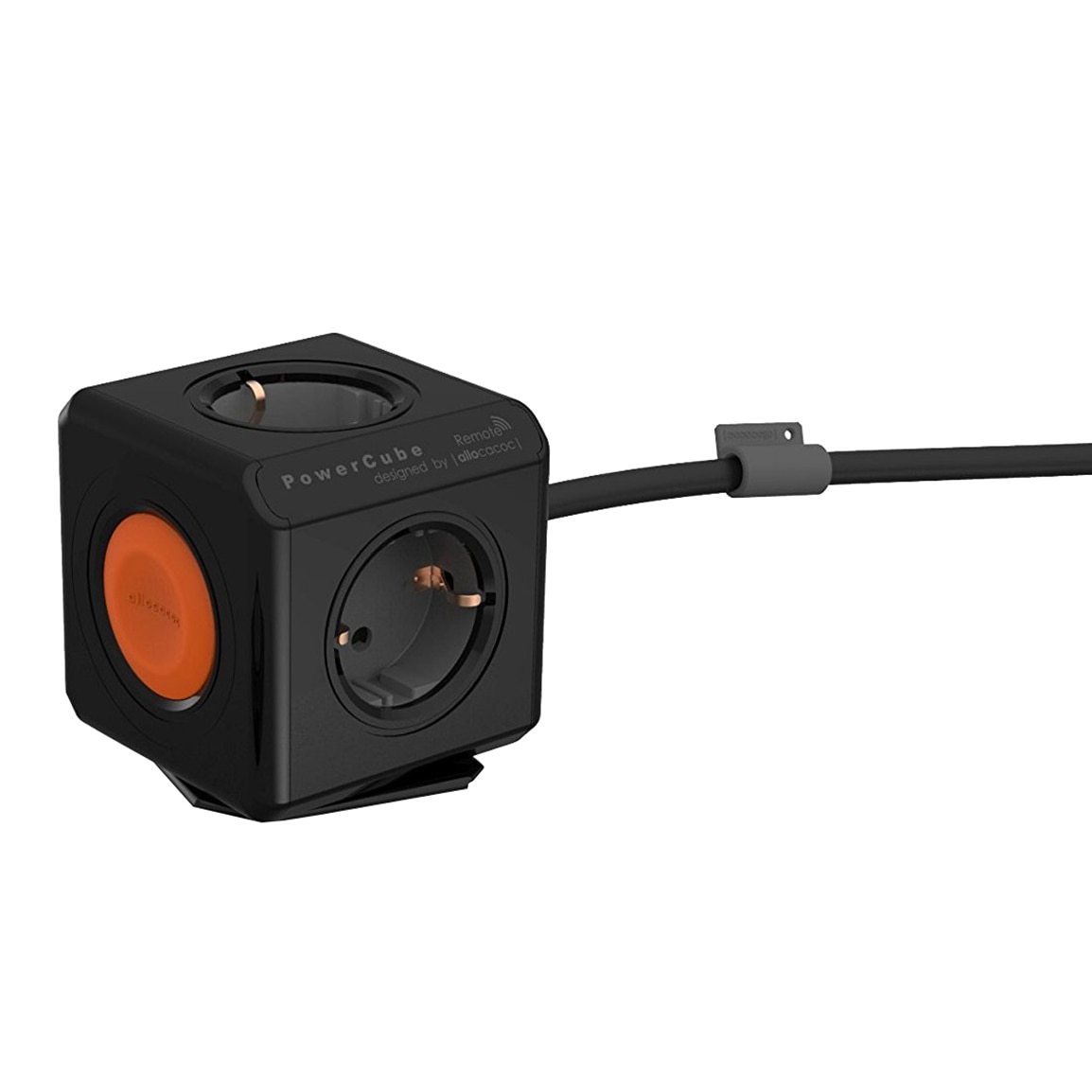 Fotografie Priza PowerCube Allocacoc Extended, cablu 1.5 m, Negru