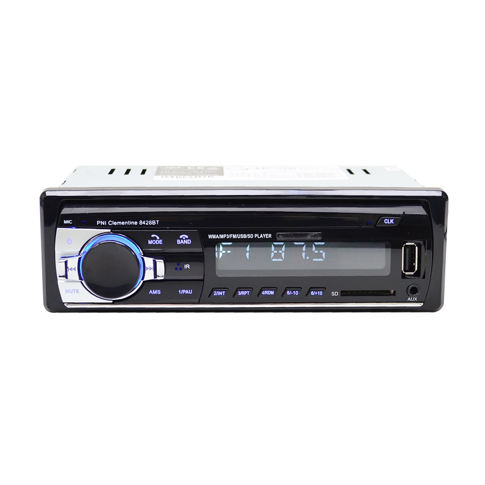 Fotografie Radio MP3 player auto PNI Clementine 8428BT, 4x45w, 1 DIN cu SD, USB, AUX, RCA, Bluetooth