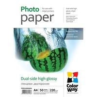 ColorWay Fotópapír, Dual-side, High glossy, 220 g/m2, A4, 50 oldal