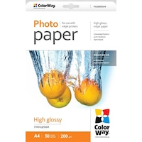 ColorWay Fotópapír, high glossy, 200 g/m2, A4, 50 oldal