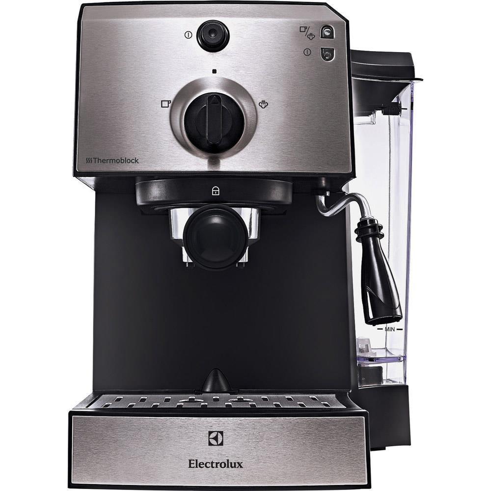 Fotografie Espressor manual Electrolux EEA111, 1250 W, 15 bar, 1.25 l, Negru/Argintiu