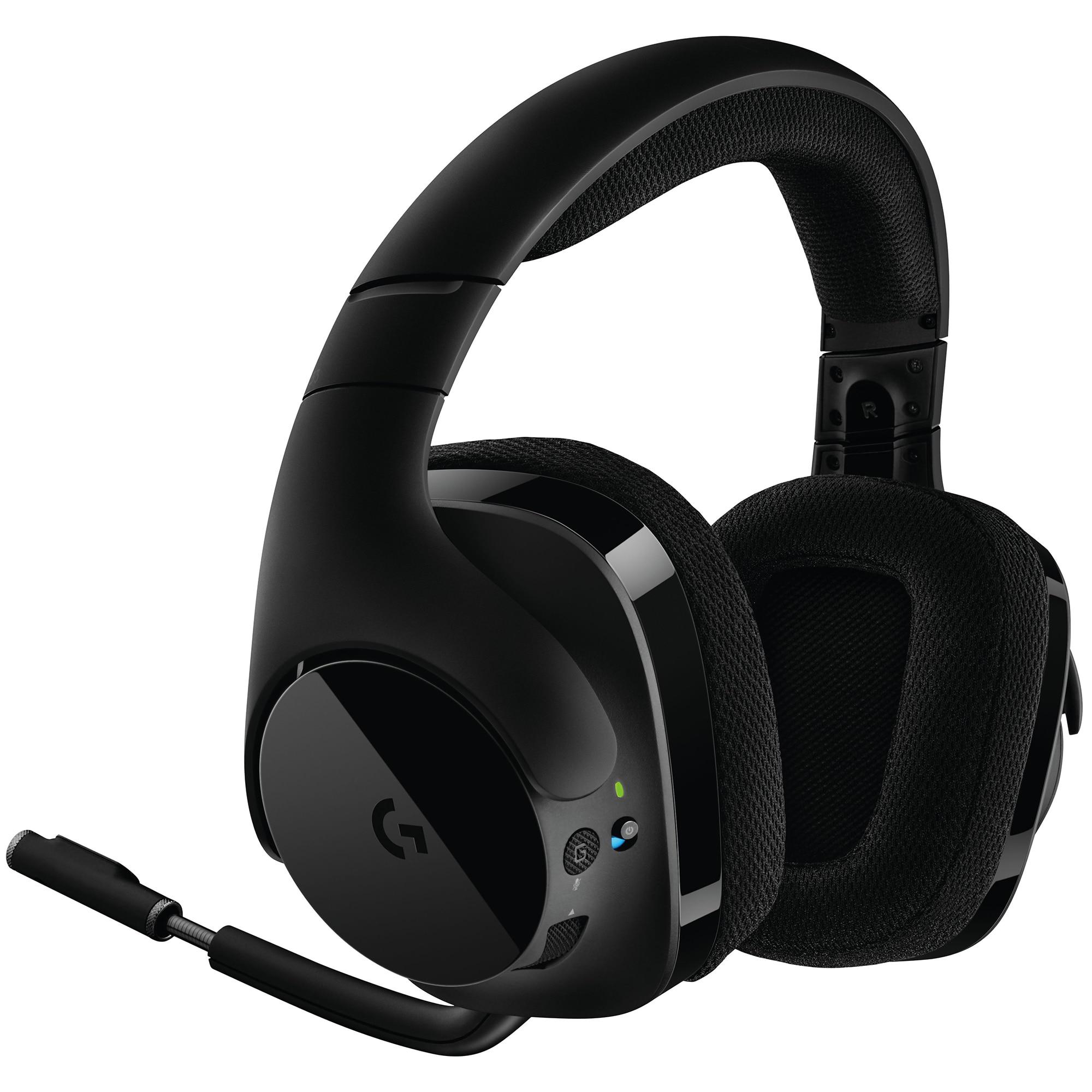 Fotografie Casti gaming Logitech G533, Wireless, DTS Surround 7.1, Negru