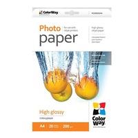 COLORWAY Fotópapír, High glossy, 200 g/m2, A4, 20 oldal