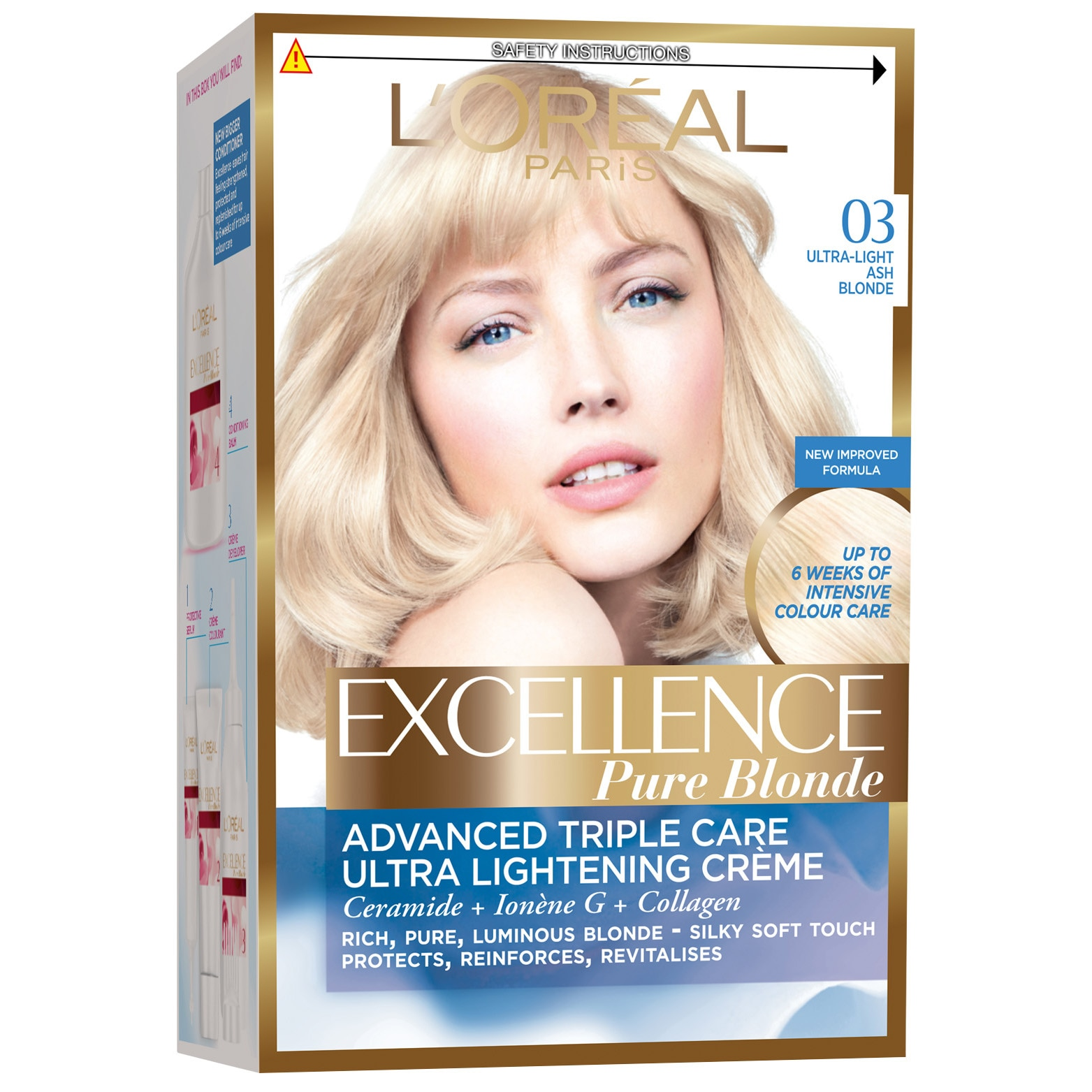 L'Oreal Paris hajfesték Excellence 03 Szőke, Nagyon világos hamvasszőke, 192 ml eMAG.hu