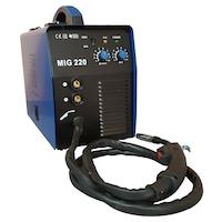 Телоподаващ апарат TIGTAG MIG220DSH, инвертор, електрожен, с директен шланг, 2 метра
