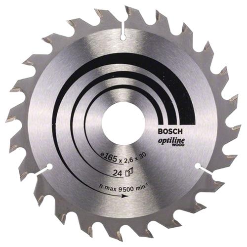 Fotografie Panza fierastrau circular Bosch Optiline pentru lemn, 165 x 30/20 x 2.6 mm
