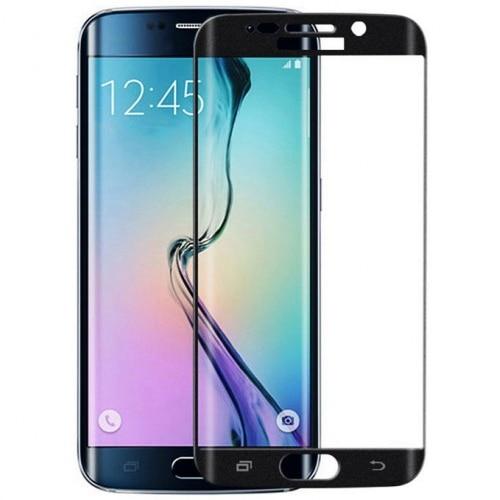 Fotografie Folie de protectie Tempered glass 3D Tellur pentru Samsung S6 Edge, Margini curbate, Black