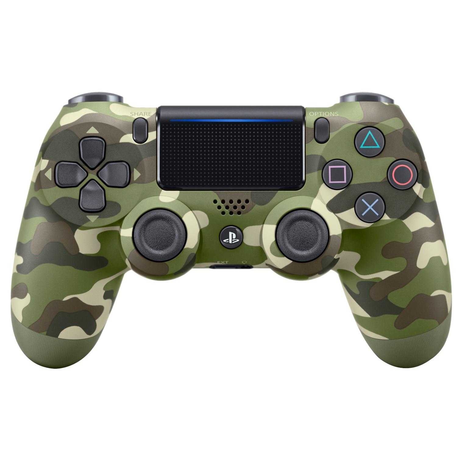 Fotografie Controller Sony Dualshock 4 v2 pentru PlayStation 4, Green Camouflage