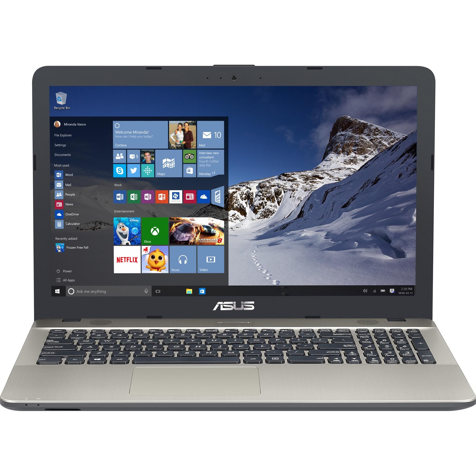"Fotografie Laptop ASUS X541UA-GO1372T cu procesor Intel® Core™ i3-7100U 2.40 GHz, Kaby Lake, 15.6"", 4GB, 1TB, DVD-RW, Intel® HD Graphics 620, Windows 10, Chocolate Black"