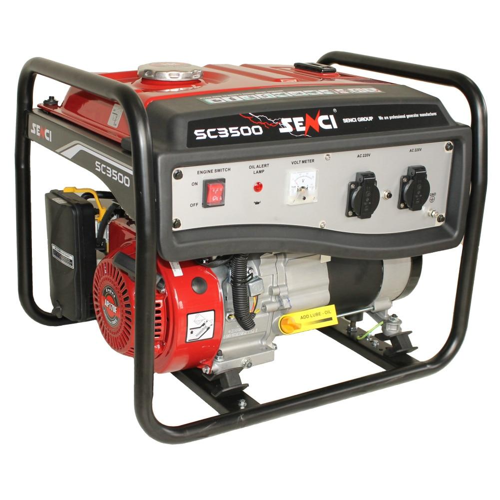 Fotografie Generator curent electric profesional Senci SC-3500 Lite, 3000 W, 230 V, AVR, monofazat, protectie suprasarcina, 15 l, benzina