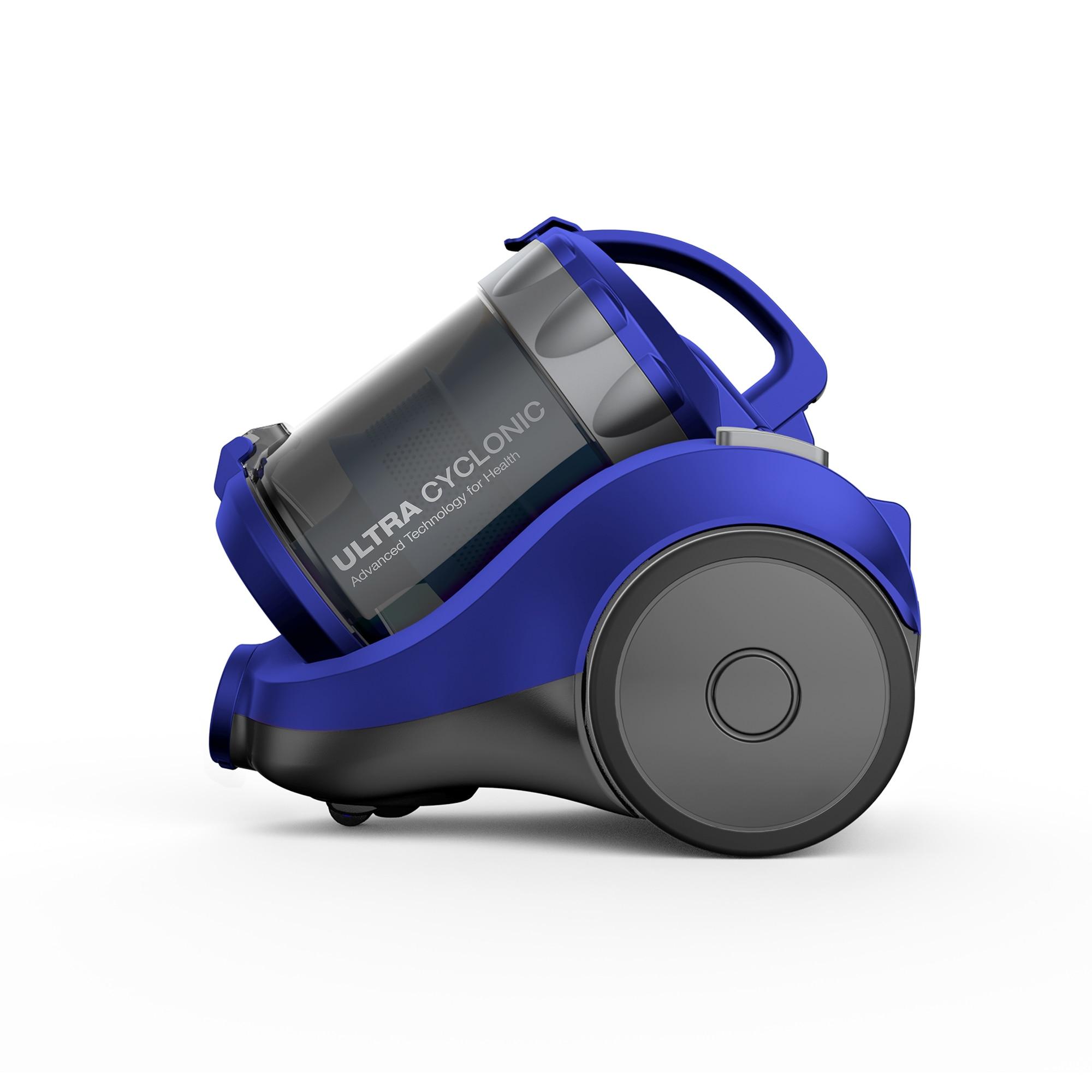 Daewoo RCC 120L porzsák nélküli porszívó, 1400W, 2 L, Teleszkópos cső, HEPA szűrő, Kék Szürke