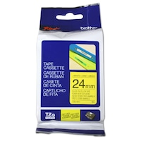 Etichete laminate Brother TZE651 Black on Yellow 24mm