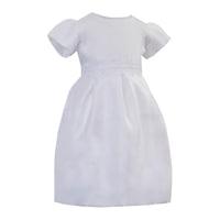 Lux szatén keresztelőruha, alkalmi ruha lányoknak - Flóra (Fehér, 80 (12 hó))