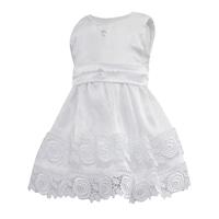 Lux szatén keresztelőruha, alkalmi ruha lányoknak - Barbara (Fehér, 62 (3 hó))