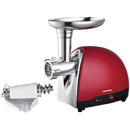 Masina de tocat carne Heinner MG1200TA-Red, 1360W, 2 Kg/min, Rosu