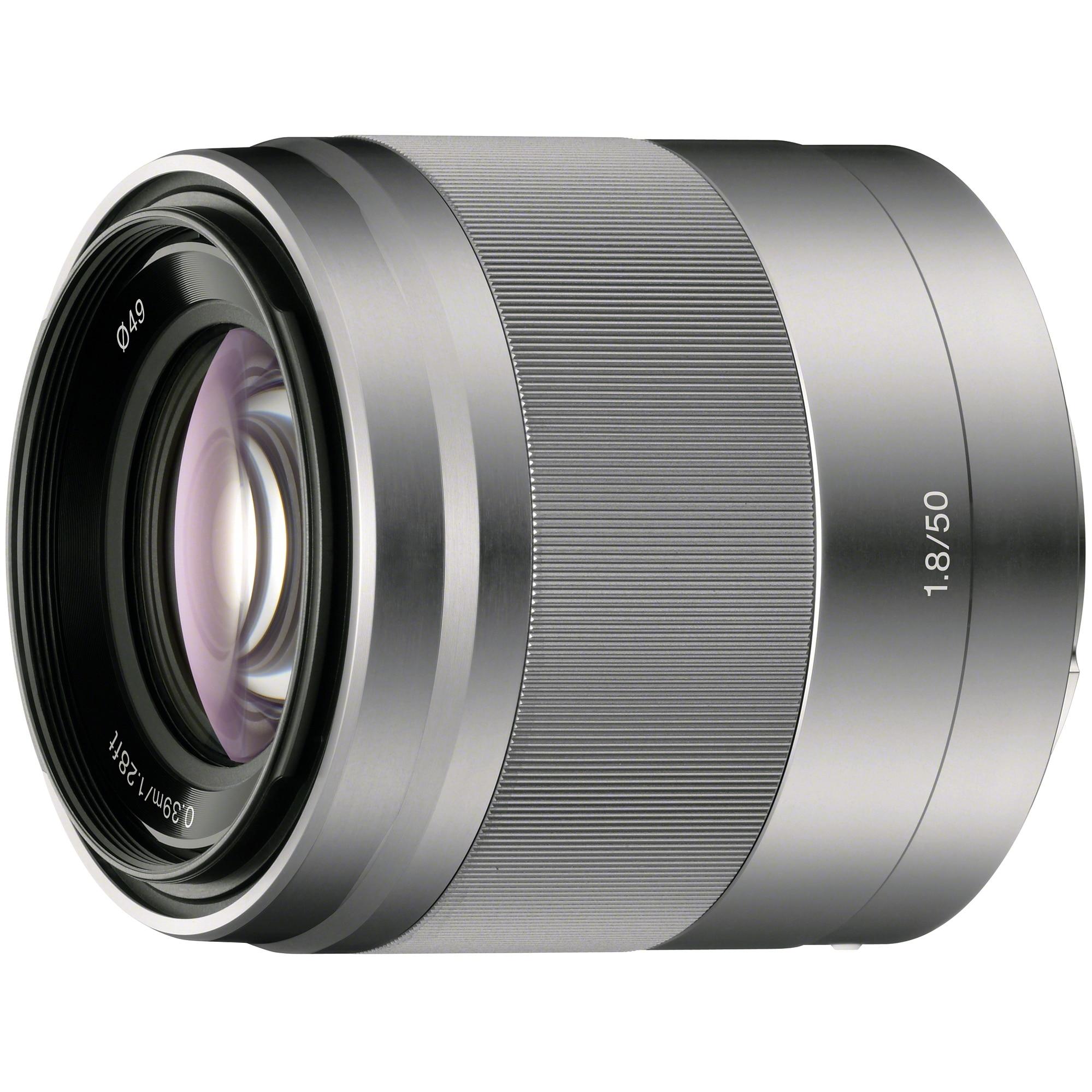 Fotografie Obiectiv Sony 50mm f1.8 OSS, Silver
