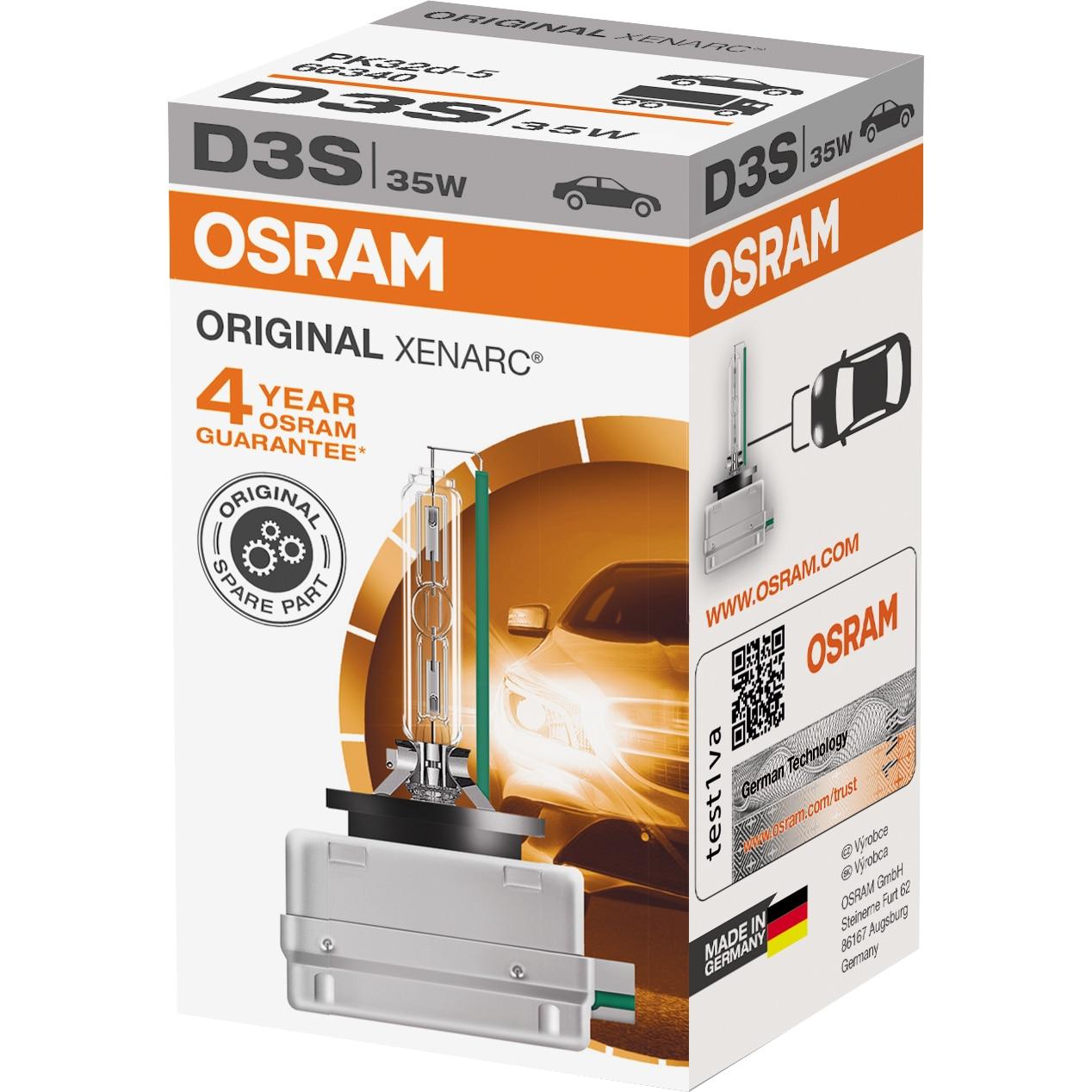 Fotografie Bec auto Xenon pentru far Osram D3S, 35W, 1 Buc
