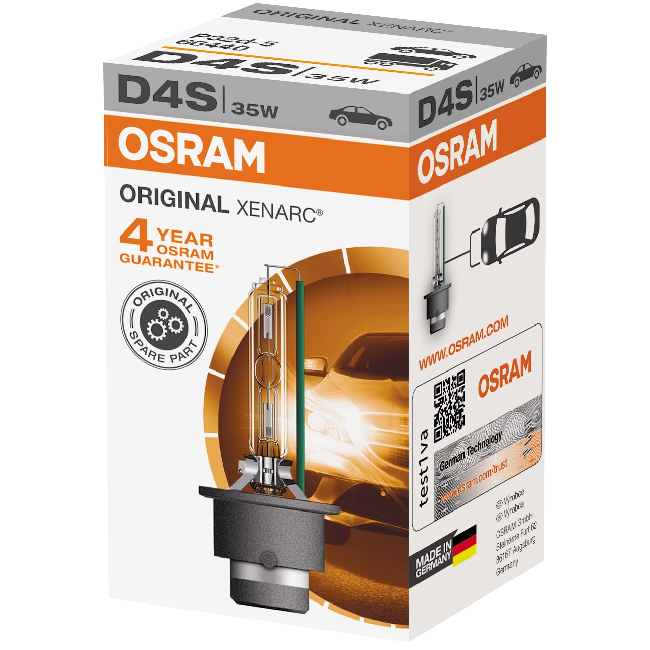 Fotografie Bec auto Xenon pentru far Osram D4S, 35W, 1 Buc