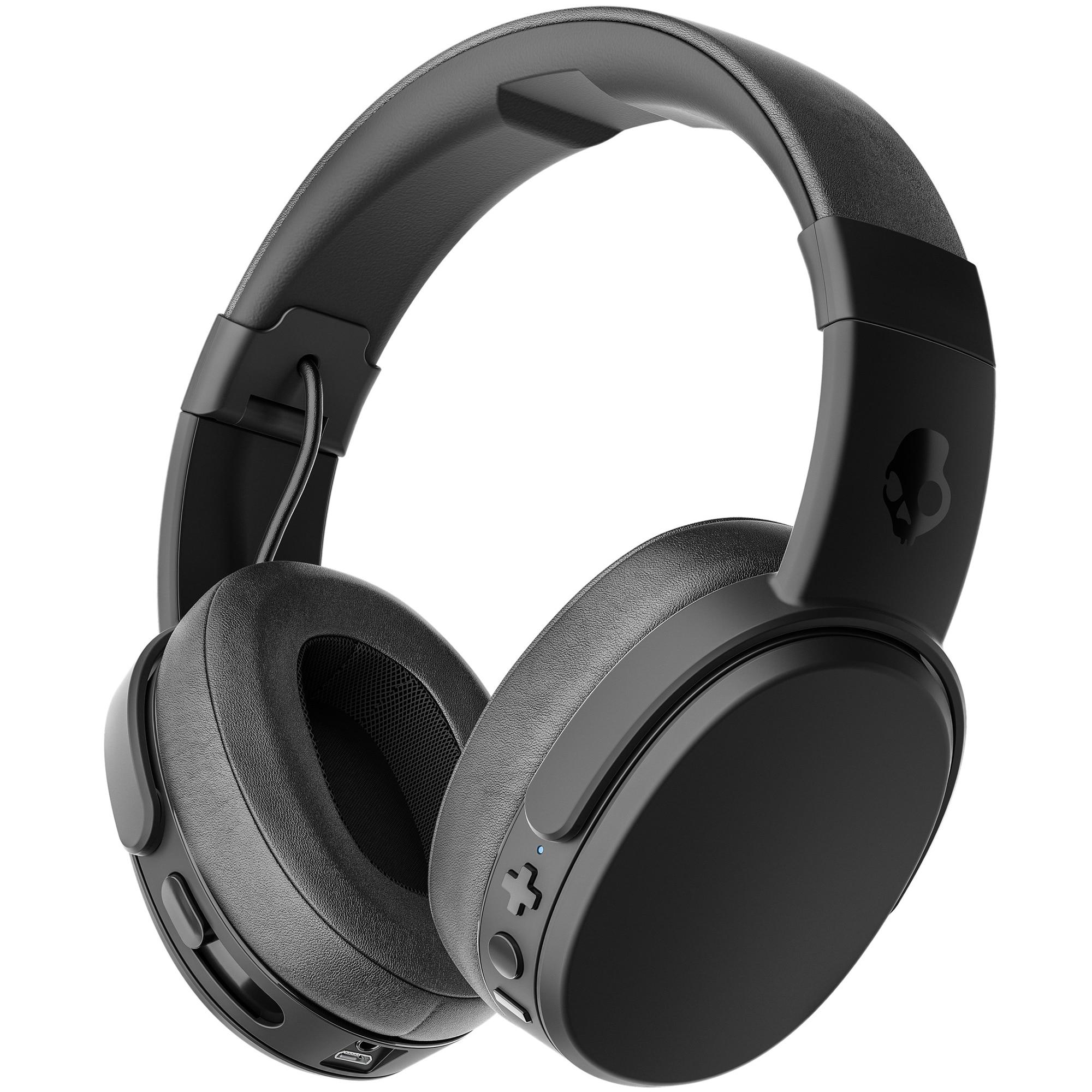 Fotografie Casti audio over-ear, Skullcandy Crusher, Microfon, Bluetooth, Black Coral Black