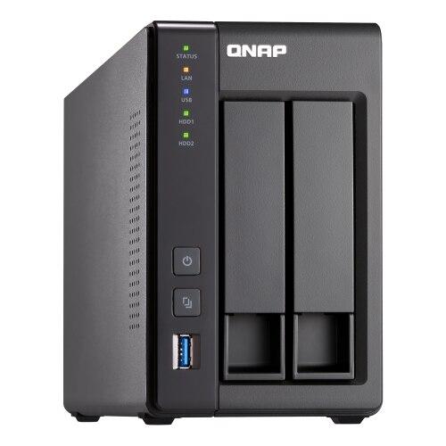Fotografie Network Attached Storage QNAP TS-251+-2G cu procesor Intel® Celeron® Quad-Core 2.00GHz, 2GB DDR3L, 2-bay