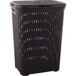 Curver Ratan utánzatu szennyestartó kosár, 60 L, Műanyag, Barna