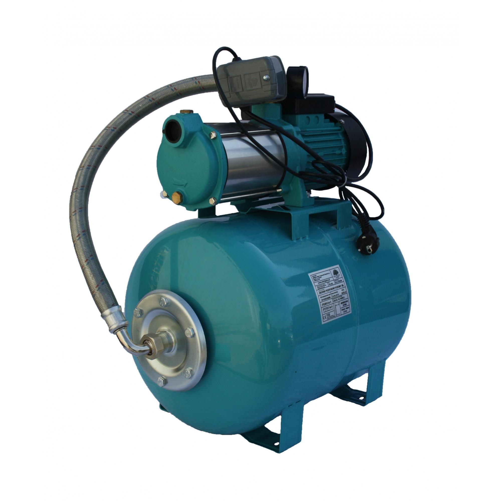 "Fotografie Hidrofor apa curata Omnigena OM5006/100, 2200 W, 100 l capacitate vas expansiune, 170 l/min debit apa, 58 m inaltime refulare, 8 m adancime absorbtie, 1"" diametru racord"