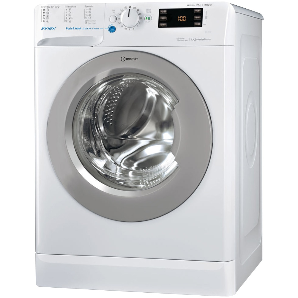 Fotografie Masina de spalat rufe Indesit BWE 91484X WSSS EU, 9kg, 1400 rpm, Clasa A+++, Alb
