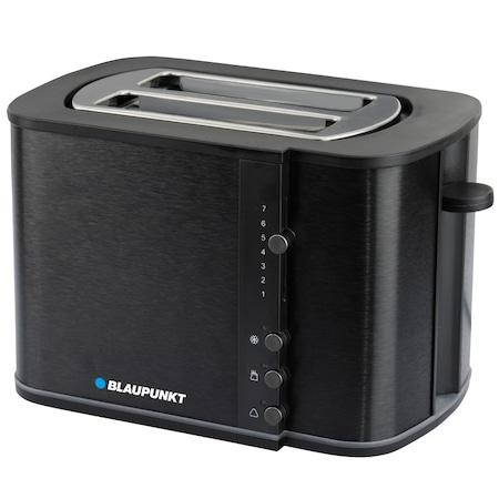 Blaupunkt TSS801BK kenyérpirító, 870 W, 2 szelet, állítható pirítási fokozat, kiolvasztó funkció, Fekete