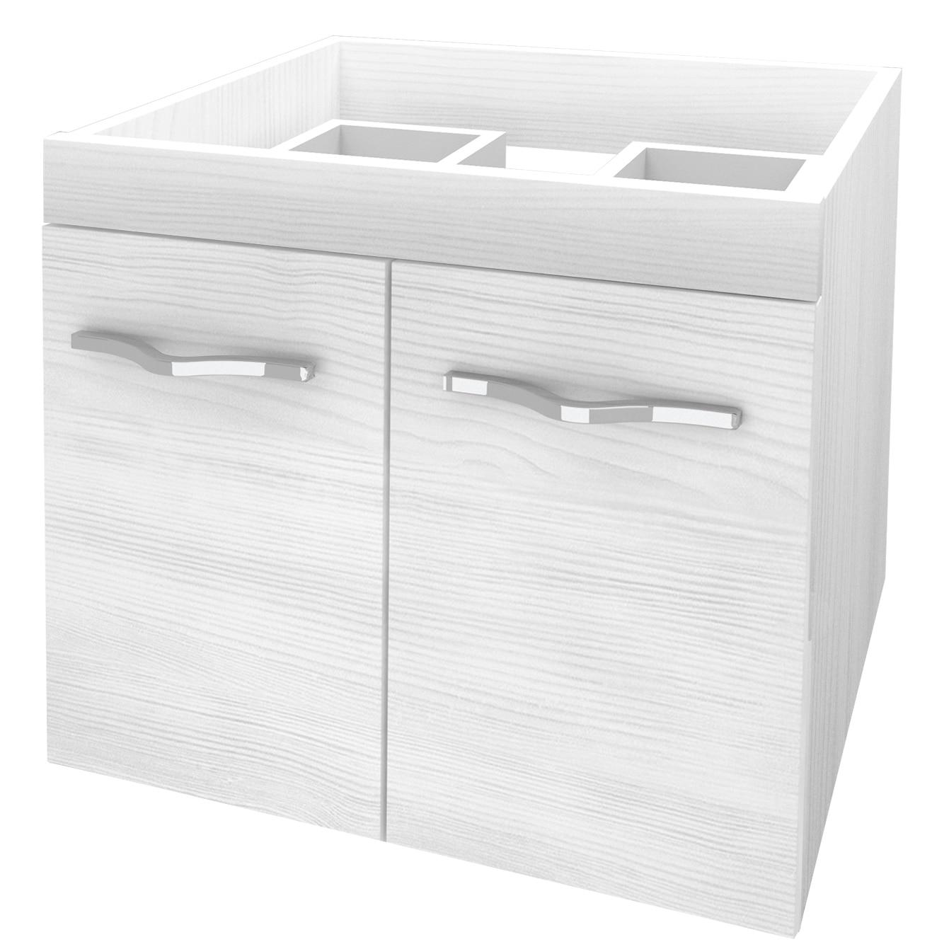 Fotografie Baza mobilier suspendat, cu doua usi cu inchidere amortizata, Kring Corallo Bianco, 60x51x46cm