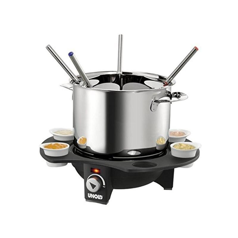 Fotografie Set fondue electric Unold, 1000W, Inox/Negru