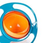 Неразливаща се детска купа за хранене Gyro Bowl Зелено и оранжево