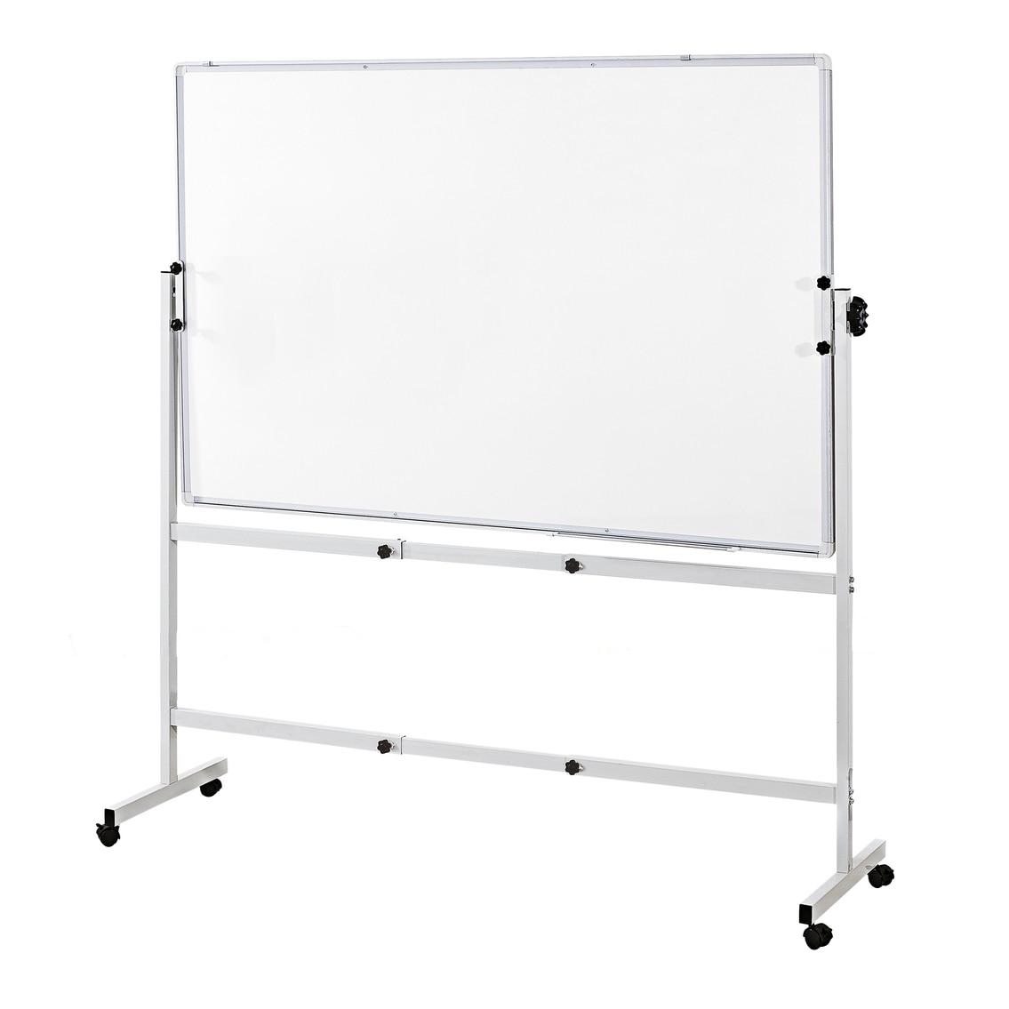 Fotografie Tabla EVOffice magnetica rotativ cu 2 fete, rama aluminiu si suport mobil 100x150 cm
