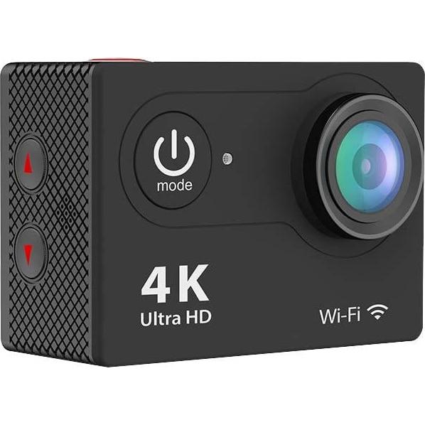 Fotografie Camera video sport Eken H9R, 4K, 170 grade, Wi-Fi, HDMI, Accesorii incluse, HDMI, micro USB waterproof 30m, 2-inch, Black, Telecomanda Cadou
