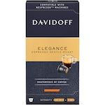 Capsule Davidoff Café Elegance Espresso Gentle Roast, Cafea prajita si macinata, 10 capsule x 5.5g, Compatibil sistem Nespresso