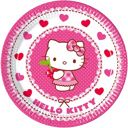 Procos Hello Kitty 8 tányér készlet, 20 cm