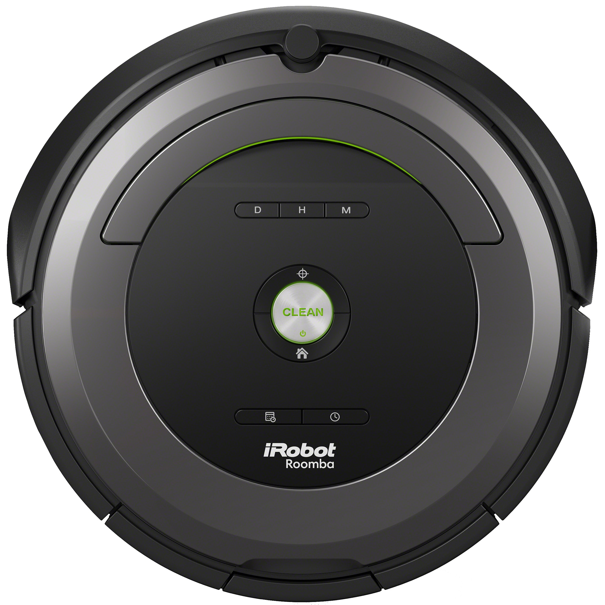 Fotografie Robot de aspirare iRobot Roomba Antiangle 681, AeroVac, Detectare acustica, iAdapt, Argintiu/Negru