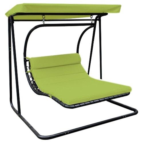 Fotografie Leagan/Balansoar pentru gradina/terasa Kring Suri, 175x203x200 cm, negru/verde
