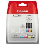 Комплект мастила Canon CLI-551, BS6509B009AA, Black, Cyan, Magenta, Yellow