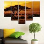 Картини пана Vivid Home от 5 части, Залез, Канава, 160x100 см, 6-та Форма №0036
