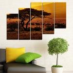 Картини пана Vivid Home от 5 части, Залез, Канава, 110x65 см, 8-ма Форма №0036