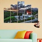 Декоративни панели Vivid Home от 5 части, Природа, PVC, 110x65 см, 5-та Форма №0071