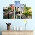 Картини пана Vivid Home от 5 части, Град, Канава, 110x65 см, 5-та Форма №0121